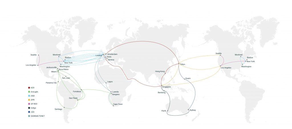 Global map of GNA-G projects